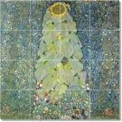 Klimt Flowers Shower Tile Bathroom Mural Remodeling Ideas Home
