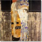 Klimt Abstract Tiles Living Mural Room Wall Idea Home Remodeling