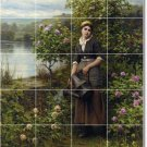 Knight Garden Wall Room Mural Tile House Decorating Traditional
