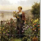 Knight Garden Wall Room Tile Mural Decorating Traditional House