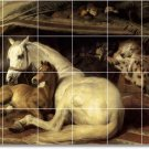 Landseer Horses Tile Shower Murals Construction Decorate Home