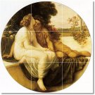 Leighton Men Women Mural Shower Tile Decorate Traditional Home