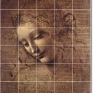 Da Vinci Illustration Bedroom Tile Floor Home Remodeling Modern