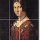 Da Vinci Women Mural Tile Bedroom Interior Renovate Contemporary