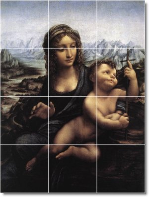 Da Vinci Religious Room Tile Wall Dining Murals Interior Decor