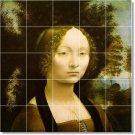 Da Vinci Women Floor Mural Room Tiles Decorate Traditional House