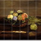 Manet Fruit Vegetables Tiles Wall Bathroom Shower House Decor