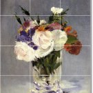 Manet Flowers Mural Floor Room Tiles Idea Commercial Decorating