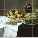 Manet Fruit Vegetables Tiles Wall Shower Bathroom Decor House