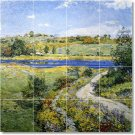Metcalf Country Living Room Mural Idea Residential Decorating