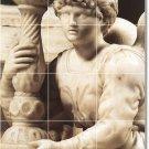 Michelangelo Sculpture Mural Bathroom Shower Tiles Art Modern