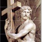 Michelangelo Sculpture Tile Room Living Murals Design Remodel