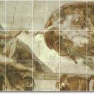 Michelangelo Religious Tile Bedroom Mural Modern Construction