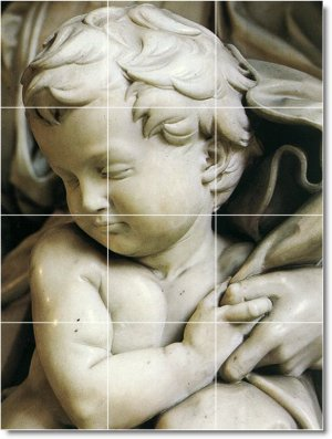 Michelangelo Sculpture Backsplash Tile Decorating Home Modern