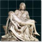 Michelangelo Sculpture Mural Kitchen Tile Design Modern Floor