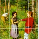Millais Children Tile Wall Backsplash Mural Kitchen Modern Floor