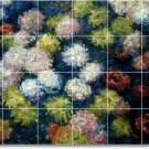 Monet Flowers Floor Living Room Tiles Design Renovate Interior