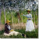 Monet Country Dining Room Mural Tile Ideas Interior Decorating