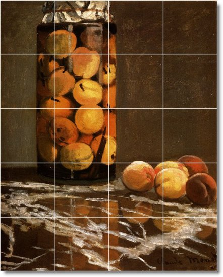 Monet Fruit Vegetables Mural Tile Kitchen Design Floor Modern