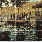 Monet Waterfront Bathroom Murals Shower Tile Floor Design Decor