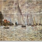 Monet Waterfront Shower Tile Murals Bathroom Decor Design Floor