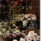 Monet Flowers Tile Mural Bathroom Shower House Design Renovate