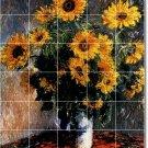 Monet Flowers Tile Mural Shower Bathroom Renovate House Design