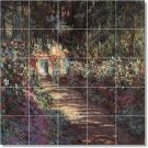 Monet Garden Backsplash Mural Tile Modern Interior Renovations