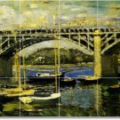 Monet Waterfront Tile Dining Wall Room Residential Construction