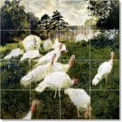 Monet Birds Tile Dining Room Renovations Decorate Interior Idea