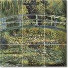 Monet Garden Mural Tile Backsplash Renovations Modern Interior