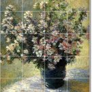 Monet Flowers Shower Bathroom Tiles Wall Construction Interior