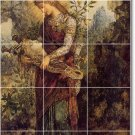 Moreau Mythology Room Mural Living Tile Decor Renovate Interior