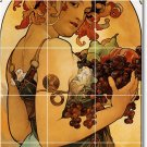 Mucha Poster Art Bathroom Wall Tile Ideas Remodeling Commercial