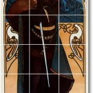 Mucha Poster Art Wall Bathroom Tile Home Remodeling Idea Design