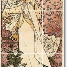 Mucha Poster Art Tile Wall Bathroom Home Idea Remodeling Design