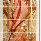 Mucha Poster Art Tiles Kitchen Wall Home Traditional Decorating
