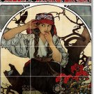 Mucha Poster Art Kitchen Floor Mural Home Decorate Construction