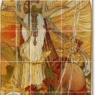 Mucha Poster Art Wall Room Mural Tiles Interior Decorating Idea