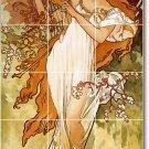 Mucha Poster Art Wall Tiles Room Mural Idea Interior Decorating