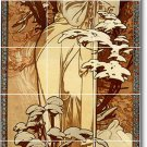 Mucha Poster Art Wall Murals Tile Bedroom Home Ideas Decorating