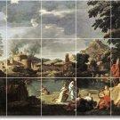 Poussin Landscapes Mural Tile Room Construction Interior Ideas