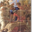 Poussin Religious Dining Room Wall Tiles Mural Interior Remodel