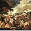 Poussin Mythology Wall Shower Murals Tile Modern Renovate House