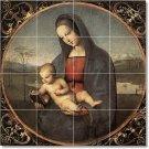 Raphael Mother Child Tiles Floor Kitchen Mural Decor Decor House