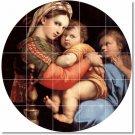 Raphael Mother Child Wall Tile Bathroom Murals Shower Modern Art