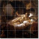Rembrandt Nudes Dining Tile Room Mural Wall Design Remodeling