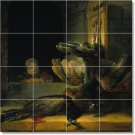 Rembrandt Birds Tile Wall Dining Room Mural Floor Decor Decor