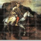 Rembrandt Horses Backsplash Mural Kitchen Tile Residential Art