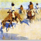 Remington Indians Shower Bathroom Wall Tile Remodel Decor Floor